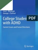 Handbook ADHD Studenți