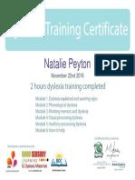 dyslexia training certificate