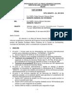 Informe Convenio Ministerio de Defensa (Plantines)