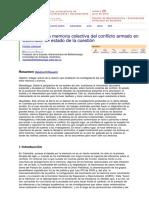 giraldo martha lucia Registro de la memoria colectiva del conflicto armado en Colombia un estado de la cuestion.pdf