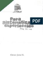 Jara H. Oscar - Para Sistemaizar experiencias.pdf