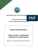 Silabo de Epiinfo 2018 i - Actualizado