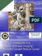 Breast Ultrasound Manquen TC Sonography2014