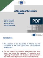 Eurocodes in Balkans CR Albania