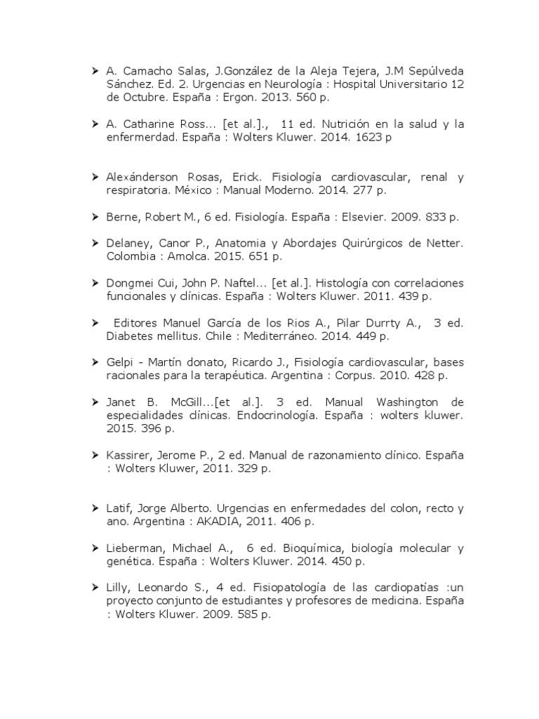 Bibliografia de Medicina