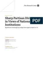 Pew Research Center on changing attitudes toward American institutions