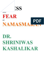 Stress and Fear of Namasmaran Dr. Shriniwas Kashalikar