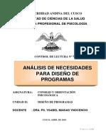 Lectura Nº 7 Análisis de Necesidades Para Diseñar Programas 26-03-18