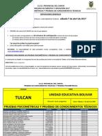 Cronograma Pruebas Gad Carchi