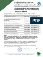 Ugel Andahuaylas Cronograma Contratacion Docente 2018 Rm 539 2017 Minedu
