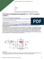 Fuente de Alimentación Ajustable 1.2 - 30V 5A Usando LM338 _ Eleccircuit