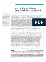Pulmonary Arterial Hypertension Pathogenesis and Clinical Management