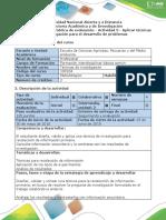 Guía de Actividades y Rúbrica de Evaluación - Actividad 5 - Aplicar Técnicas de Investigación Para El Desarrollo de Problemas