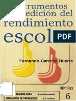 Instrumentos de Medicion Del Rendimiento Escolar