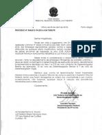 Ofício Sérgio Moro sobre prisão de Lula
