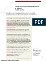 Effect of a Low-Intensity PSA-Based Screening Intervention on Prostate Cancer MortalityThe CAP Randomized Clinical Trial