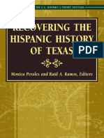 Recovering the Hispanic History of Texas edited by Monica Perales and Raúl A. Ramos