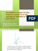 Movimiento Plano de Una Partícula Relativa a Un Sistema de Referencia en Rotación.