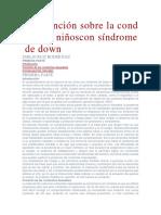 Problemas de Conducta Sindrome de Down