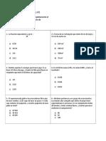 Evaluación de Matemáticas#1