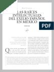 Raíces intelectuales del exílio español en México