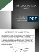 Métodos de Masa Total TALUDES