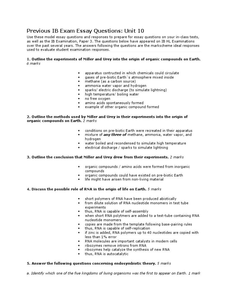 previous ib exam essay questions unit 3
