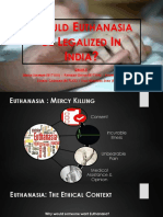 Legality of Euthanasia in India