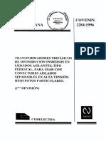 COVENIN 2284.1996 Transformadores Trifásicos Tipo Pedestal