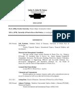 currículum de Carlos A. Colón de Armas