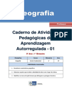 Geografia Regular Professor Autoregulada 6a 1b