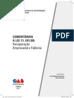 LIVRO COMENTÁRIOS À LEI 11.10105 Recuperação Empresarial e Falência