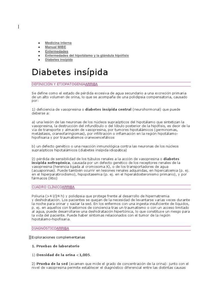 diabetes insípida nefrogénica debido a hipercalcemia