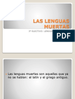 Las Lenguas Muertas