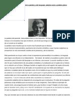 Lacan, J. - Función y Campo de La Palabra y Del Lenguaje Palabra Vacía y Palabra Plena