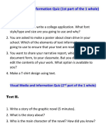 Text Media and Information Quiz