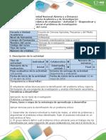Guía de Actividades y Rúbrica de Evaluación - Actividad 3 - Diagnosticar y Caracterizar El Problema de Investigación