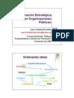Planificación Estratégica en Organizaciones Públicas