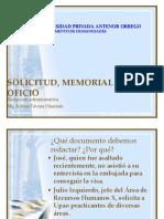 solicitud memorial y oficio