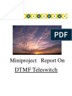Home automation using phone (dtmf touch-tone) Final Report