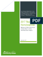 Georgia Department of Community Affairs 2017 Report on Homelessness
