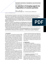 Methodology for Selection of Charging Agents for Electrophoretic Deposition of Ceramic Particles