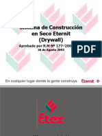 Sistema de Construccion en Seco (Drywall) Eternit