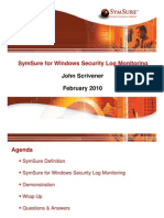 Windows Security Log Monitoring - Feb 2010