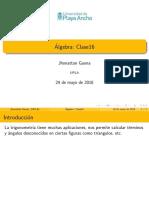 Clase Teorema Del Seno y Coseno
