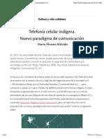 Telefonía celular indígena. Nuevo paradigma de comunicación | Cultura y vida cotidiana