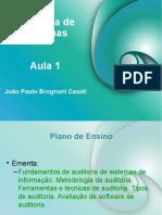 João Paulo Brognoni Casati - Auditoria em Sistemas - Aula 01.ppt