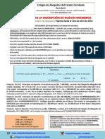 Requisitos de Inscripción a Partir Del 1ero. Abril de 2018