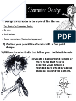 tim burton character handout