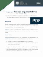 Guía de Falacias Argumentativas